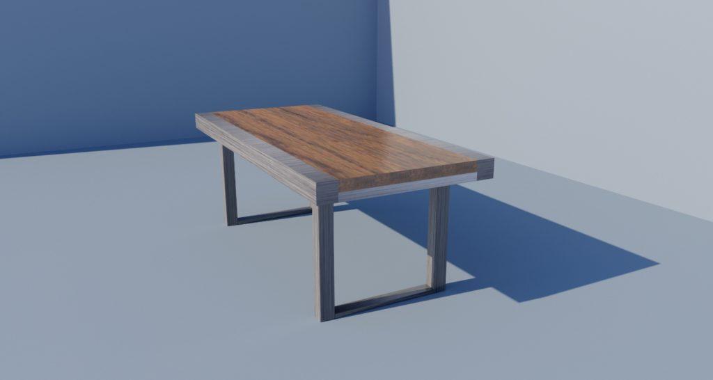 Custom Dining Table Rendering