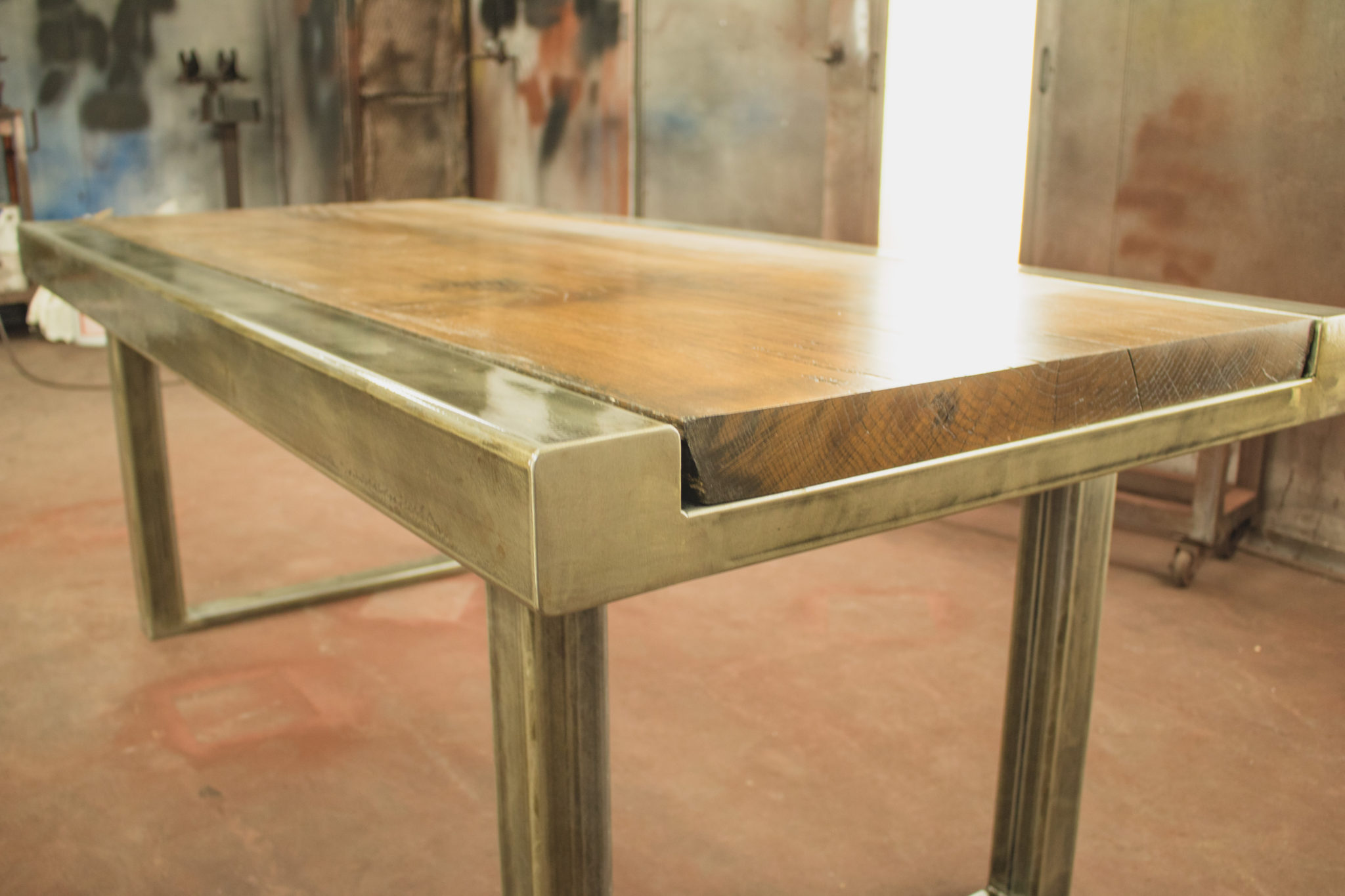 Custom Dining Table Beer City Metal Works Construction Grand Rapids
