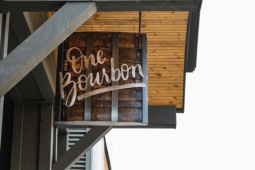 Custom Bourbon Barrel Signage | One Bourbon: Grand Rapids, MI